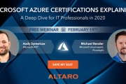 FREE WEBINAR: Microsoft Azure Certifications Explained - A Deep Dive for IT Professionals in 2020