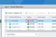 How to Fix VMware ESXi Virtual Machine 'Invalid Status'