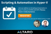 Free Webinar: Scripting & Automation in Hyper-V without System Center Virtual Machine Manager (SCVMM)