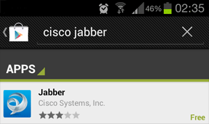 cisco jabber android marketstore