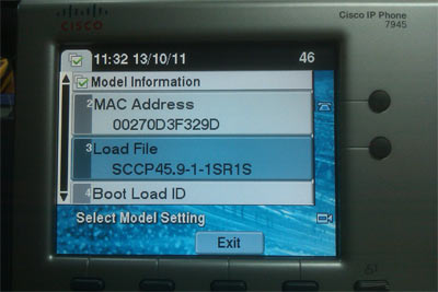 IP Phone 7945, 7965, 7975 Factory Reset Procedure, SCCP
