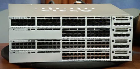 cisco catalyst 3850 front and network modules