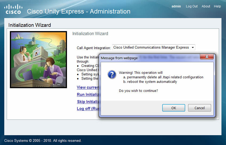 cisco unity express installation