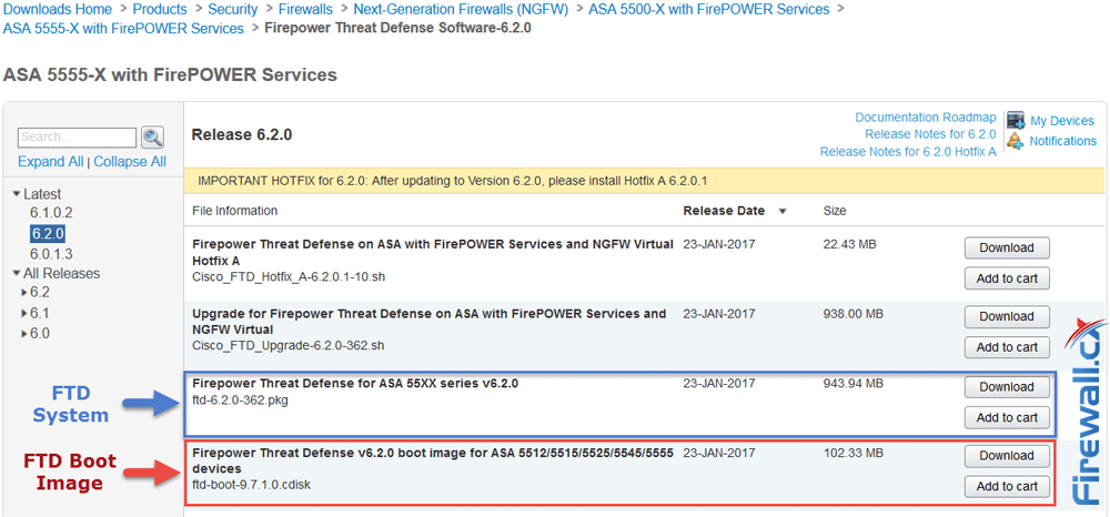 Cisco ASA Firepower Threat Defense (FTD): Download and