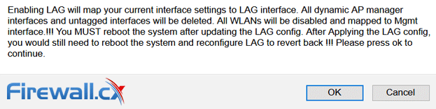 WLC Configuration to enable LAG Support
