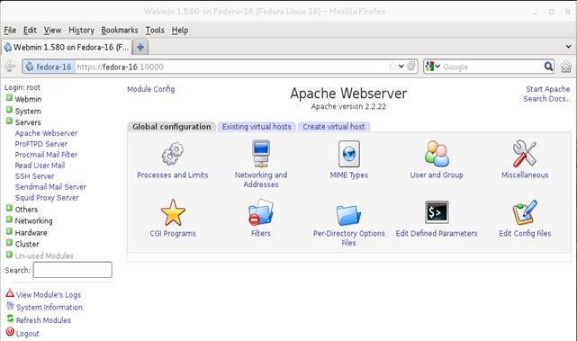 webmin linux
