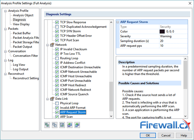 capsa enterprise v11 analysis profile setting