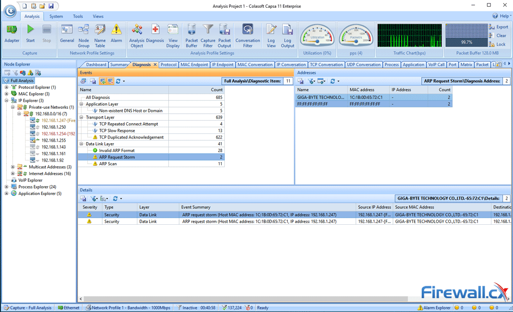 capsa enterprise v11 diagnosis tab