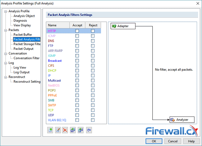 capsa enterprise v11 packet analysis filters