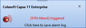 tcp syn flood attack alarm