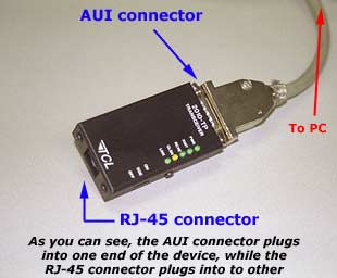 RJ-45 to AUI Connector