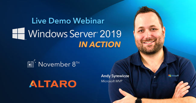 altaro windows server 2019 in action webinar