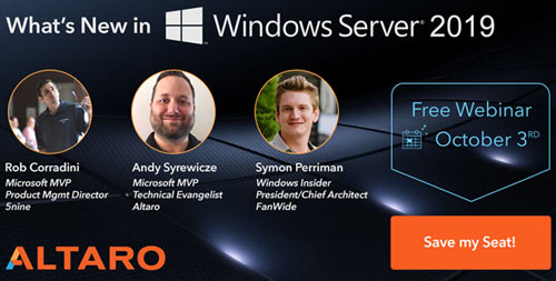 altaro windows server 2019 webinar