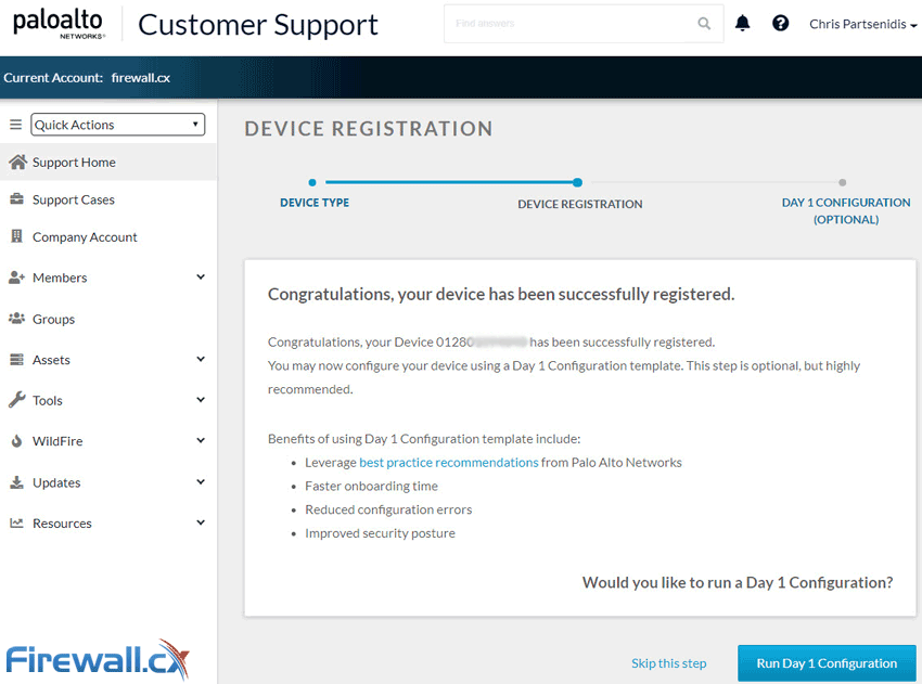 How to Register a Palo Alto Firewall and Activate Support