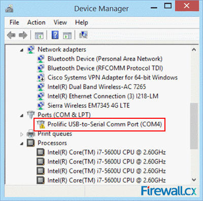 Installing the unsupported profilic usb to serial - Prolific usb to serial comm port driver windows 8 ...