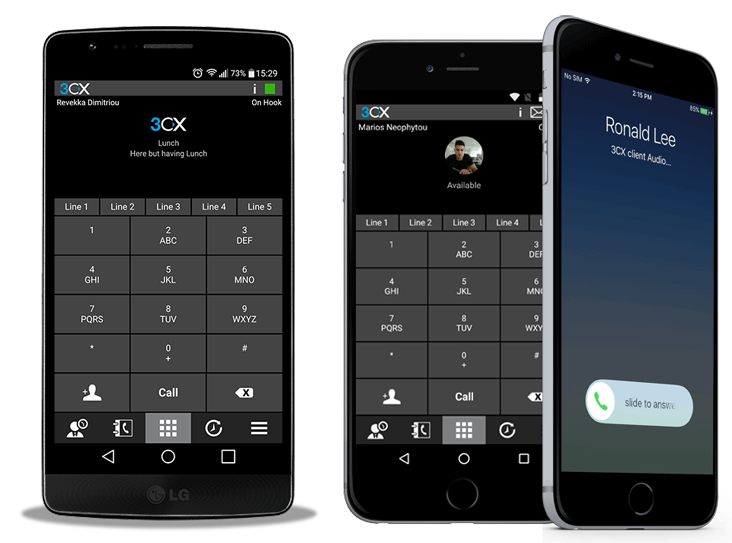 3CX Android and iPhone softphone SIP client