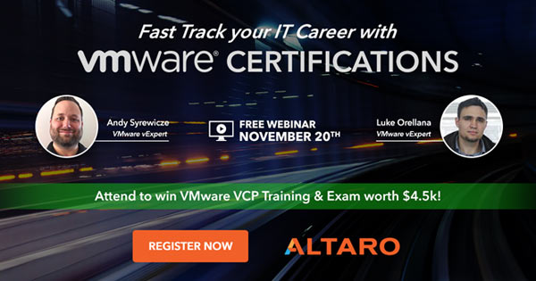 Free vmware certification webinar