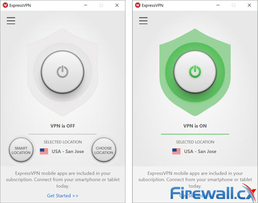 The ExpressVPN VPN client: A combination of simplicity and great functionality