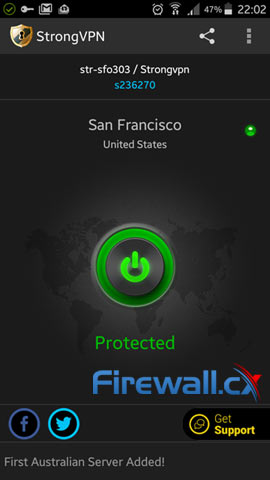 StrongVPN mobile VPN client – a stunning application