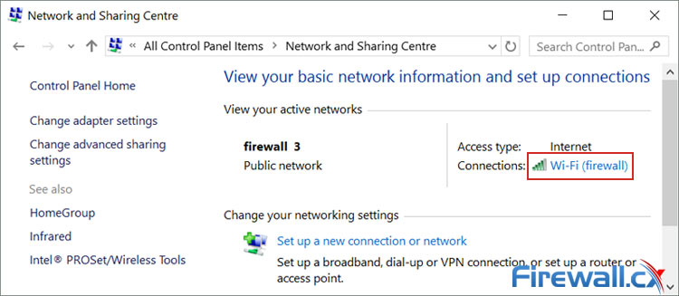Accessing your Windows 10 wireless or wired network adapter settings