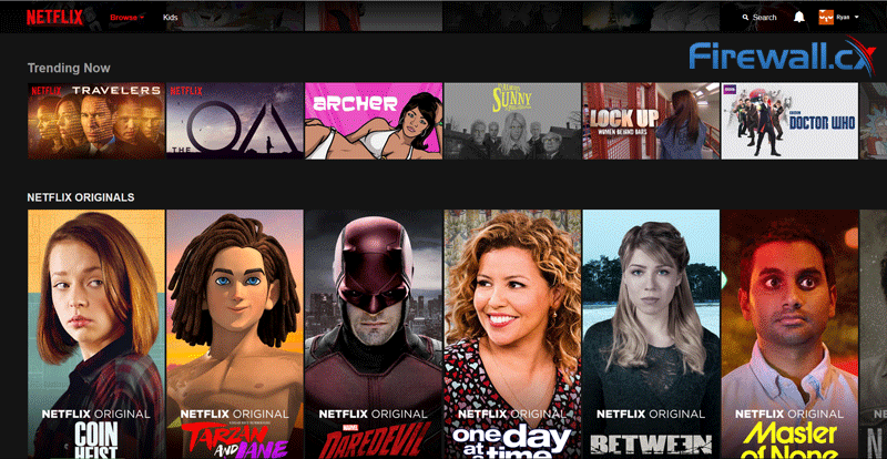 Netflix UK homepage without SOCK5 proxy
