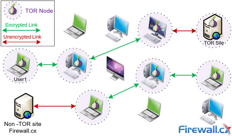 How data is exchanged in a ToR VPN Network