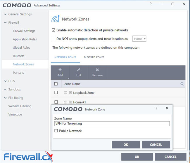 Comodo Network Zone Setup for Torrenting