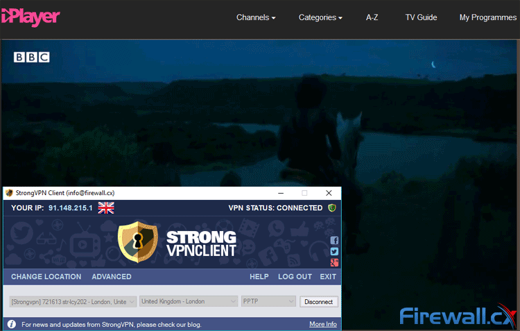 StrongVPN unblocks BBC iPlayer
