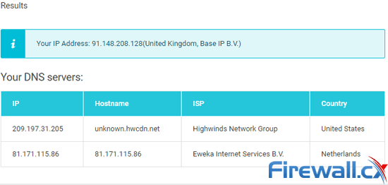 StrongVPN enabled with StrongDNS passed the DNS leak test