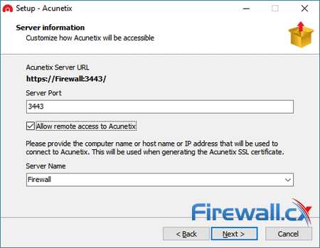 acunetix enterprise installation