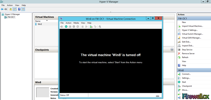 Hyper-V Starting a VM Machine