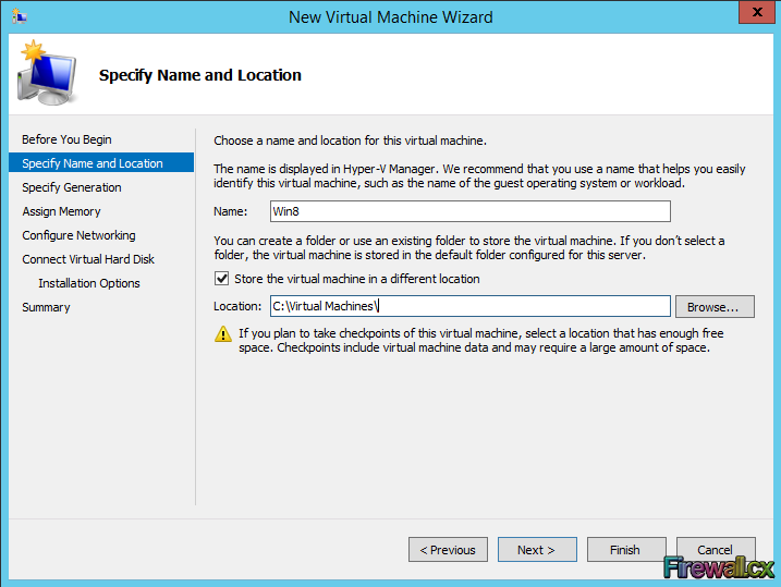 Windows Hyper-V Specify VM Name