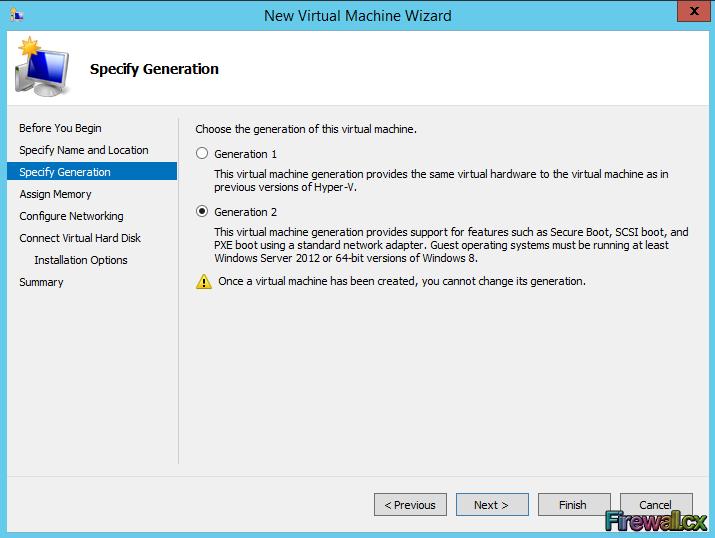 Hyper-V Installing VM & Selecting VM Generation