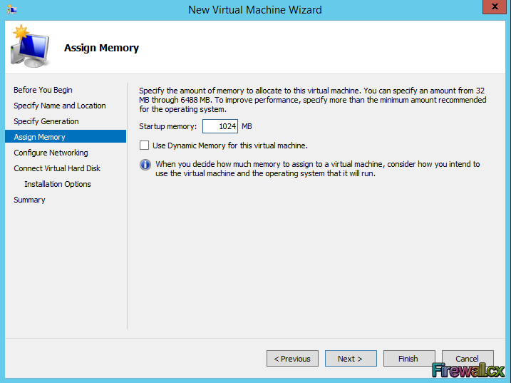 Hyper-V Assigning Memory to VM