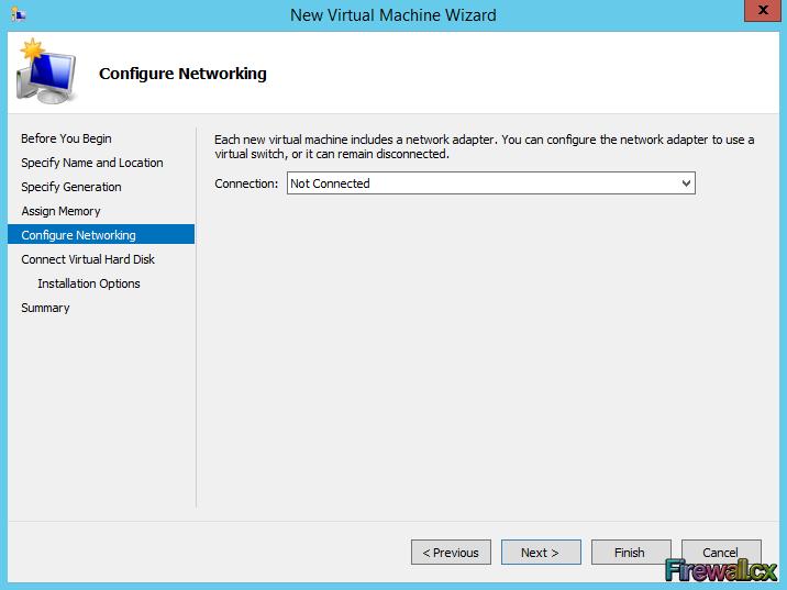 Hyper-V Installing VM - Configuring VM Switch