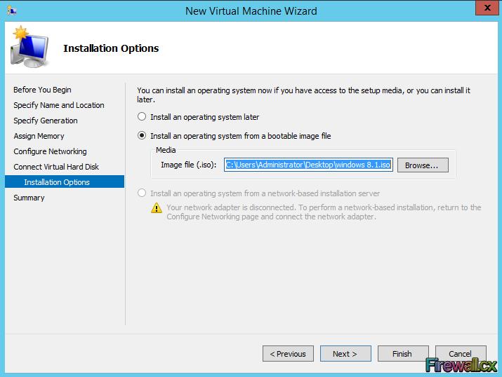 Hyper-V Installing VM from ISO Image