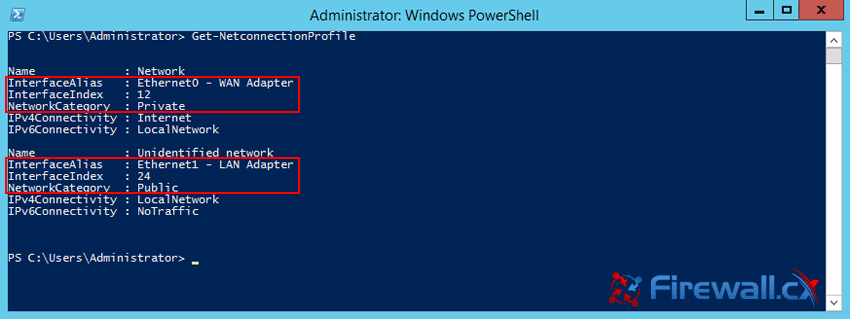 change to private network server 2012